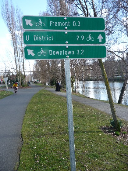 New bike route signs...for riders!