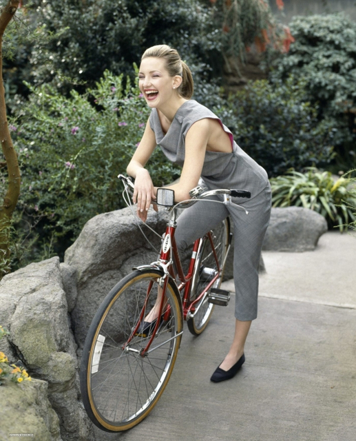 Kate on a Schwinn...